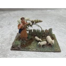 Hirte mit Schafe