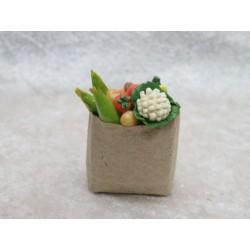 Tasche mit Gemüse