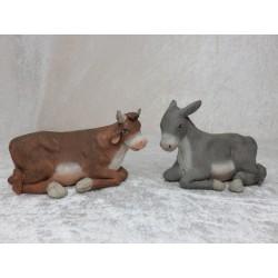Ochse und Esel 9 cm