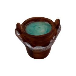 Eimer Holzoptik, braun mit Wasser 2,5 cm