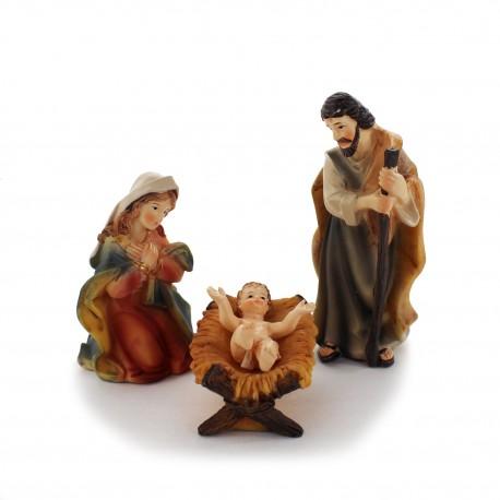Krippenfiguren Set, Heilige Familie 10 cm
