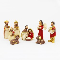 Mini Krippen - Set 8 Krippenfiguren 4,5cm