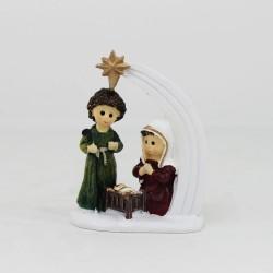 Heilige Familie mit Stern Minikrippe