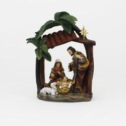 Heilige Familie mit Palmen 16cm