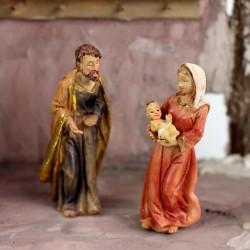 Krippenfiguren Set, Heilige Familie 8cm