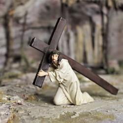 Jesus unter dem Kreuz