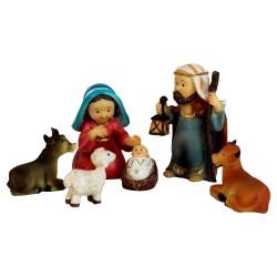 Heilige Familie kindgerecht, 6er Set Krippenfiguren