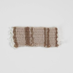 Teppich beige handgewebt 10 cm lang