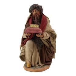 Heilige drei Könige Melchior kniend 18 cm