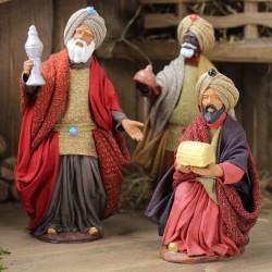 Heilige drei Könige Melchior kniend 13 cm