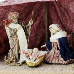 Orientalische Heilige Familie 13cm mit Kleidung
