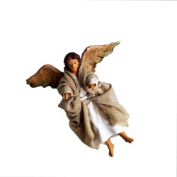 Engel  12 cm aus Ton/Stoff