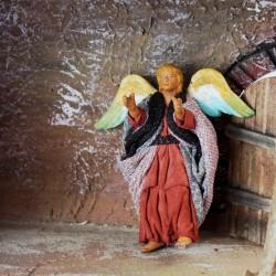 Engel 13 cm aus Ton/Stoff