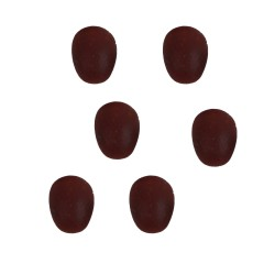 6 Eier braun 0,5cm