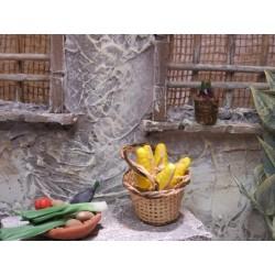 Korb mit Mais