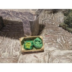 Holzkiste mit Kopfsalat